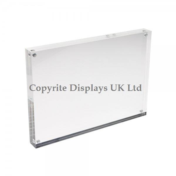 Acrylic Magnetic Block For Photo / Print / Signs
