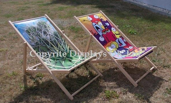 Printed Personalised Deckchairs