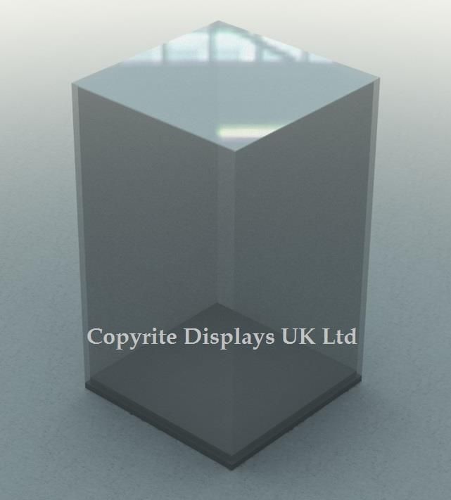 Tall Perspex Acrylic Display Case With Base
