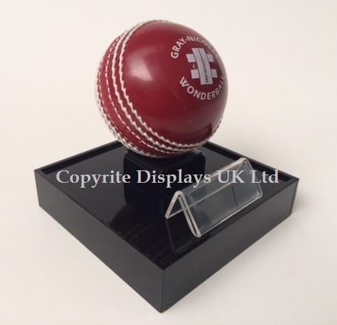 Acrylic Cricket Ball Display Case UK - Raised