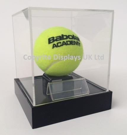 Acrylic Tennis Ball Display Case UK - Raised