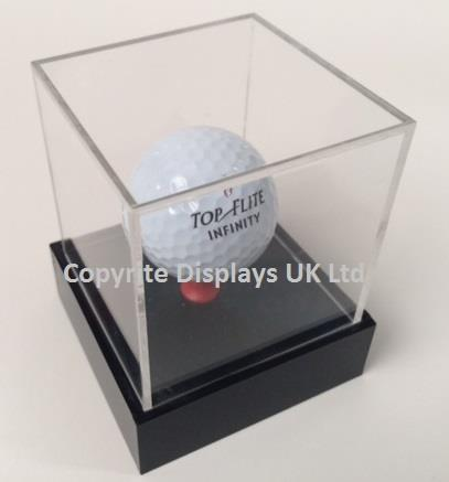 Acrylic Golf Ball Display Case UK - Raised