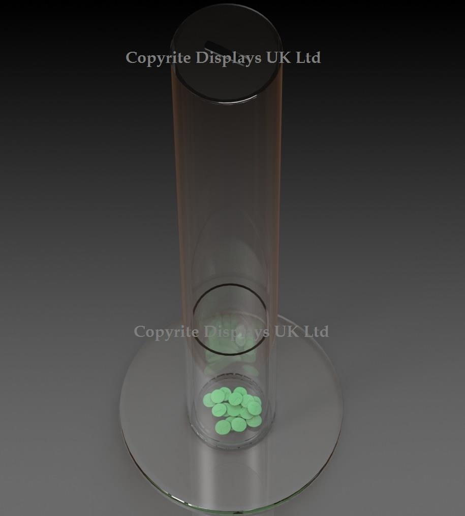 Round Acrylic Token Collector Counter