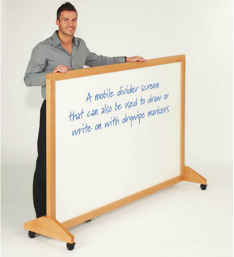 Wooden Framed Mobile Notice Boards