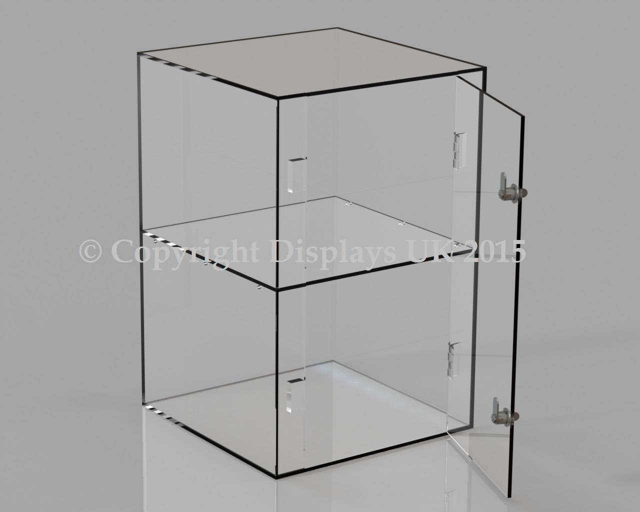 Acrylic Display Case - 1 Shelf - Lockable Door