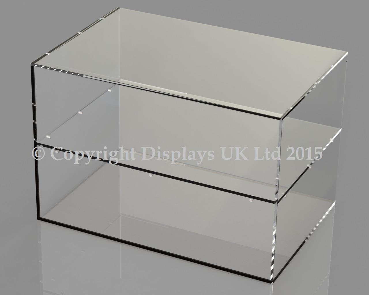 Acrylic Display Cabinet - Open Back
