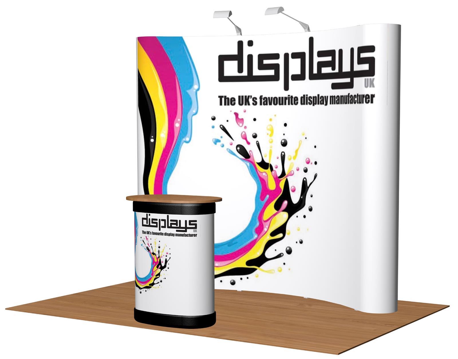 3x3 Visage Premium Pop Up Exhibition Stand Display