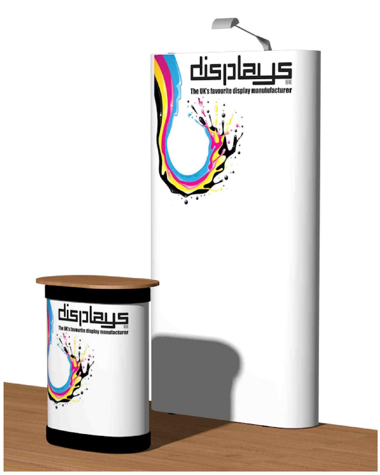 3x1 Visage Straight Premium  Pop Up Exhibition Stand