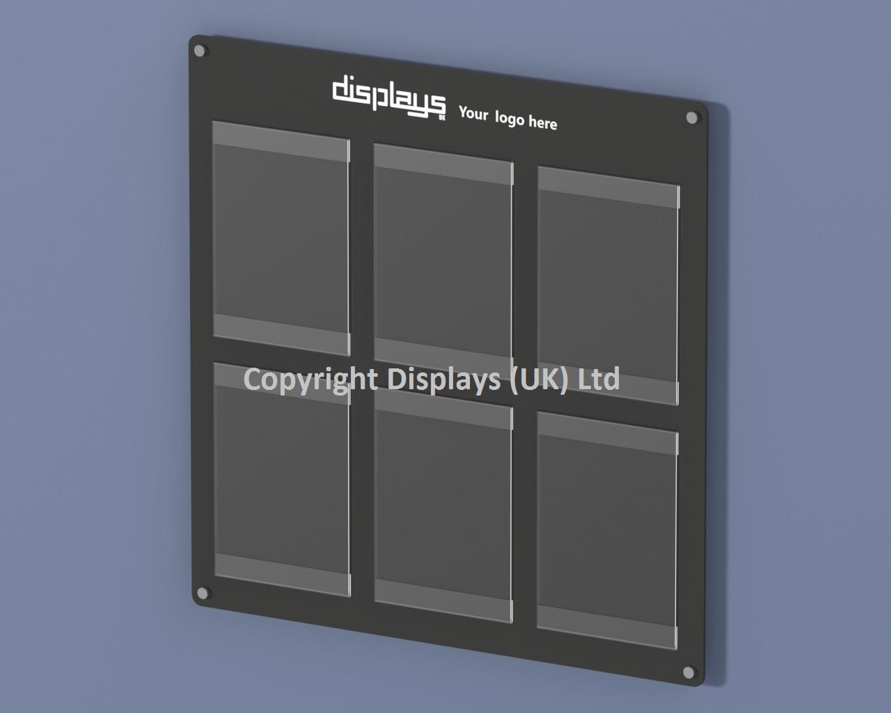 Informer Acrylic 6 x A4 Certificate Award Poster Holder