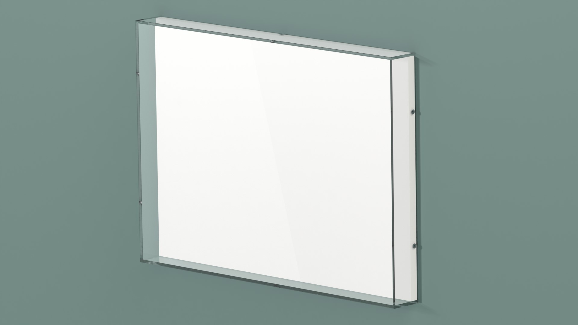 Acrylic wall mounted display case. Perfect for displaying art.