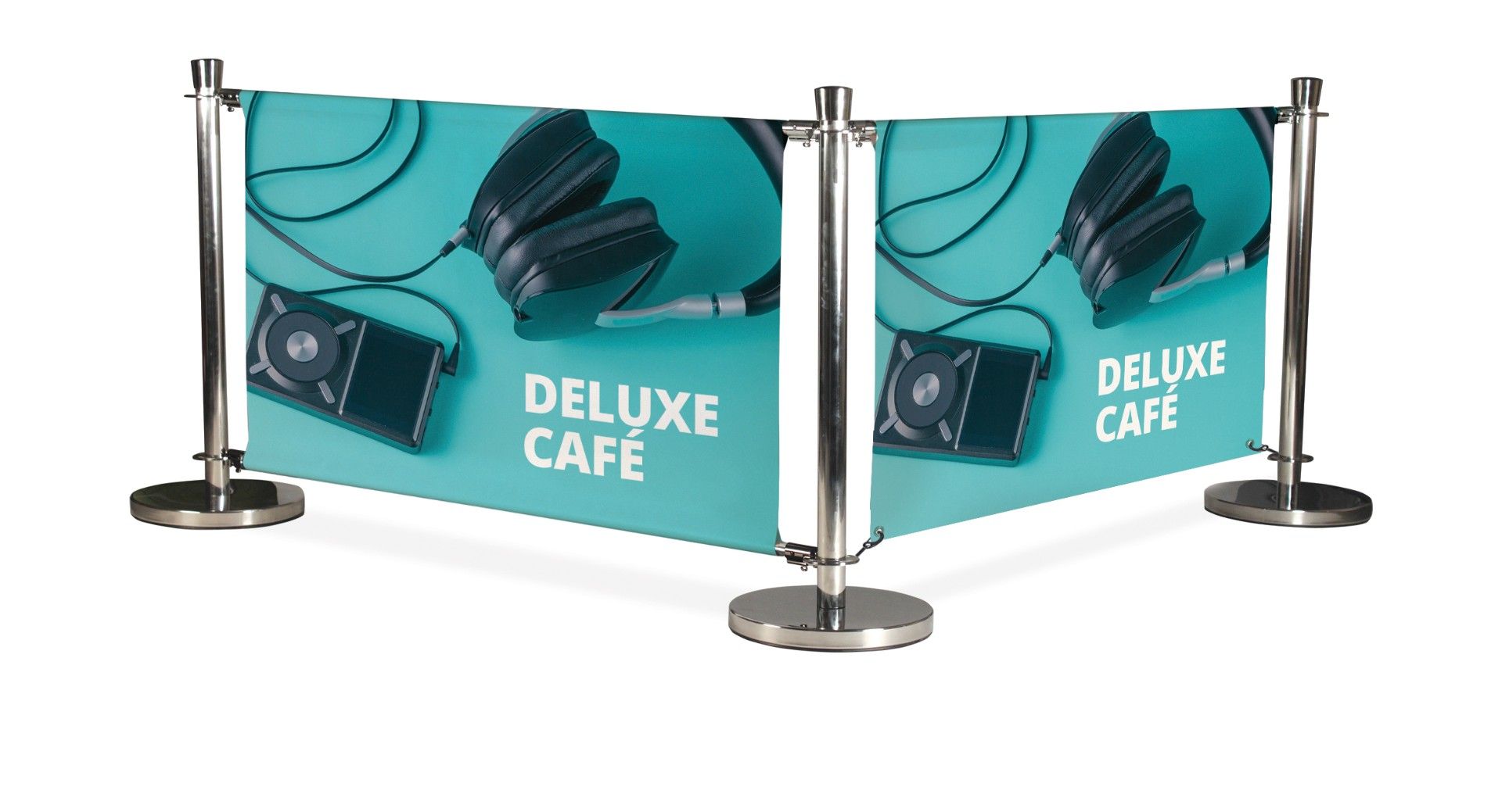 Deluxe Cafe Barrier Pavement Wind Breaks