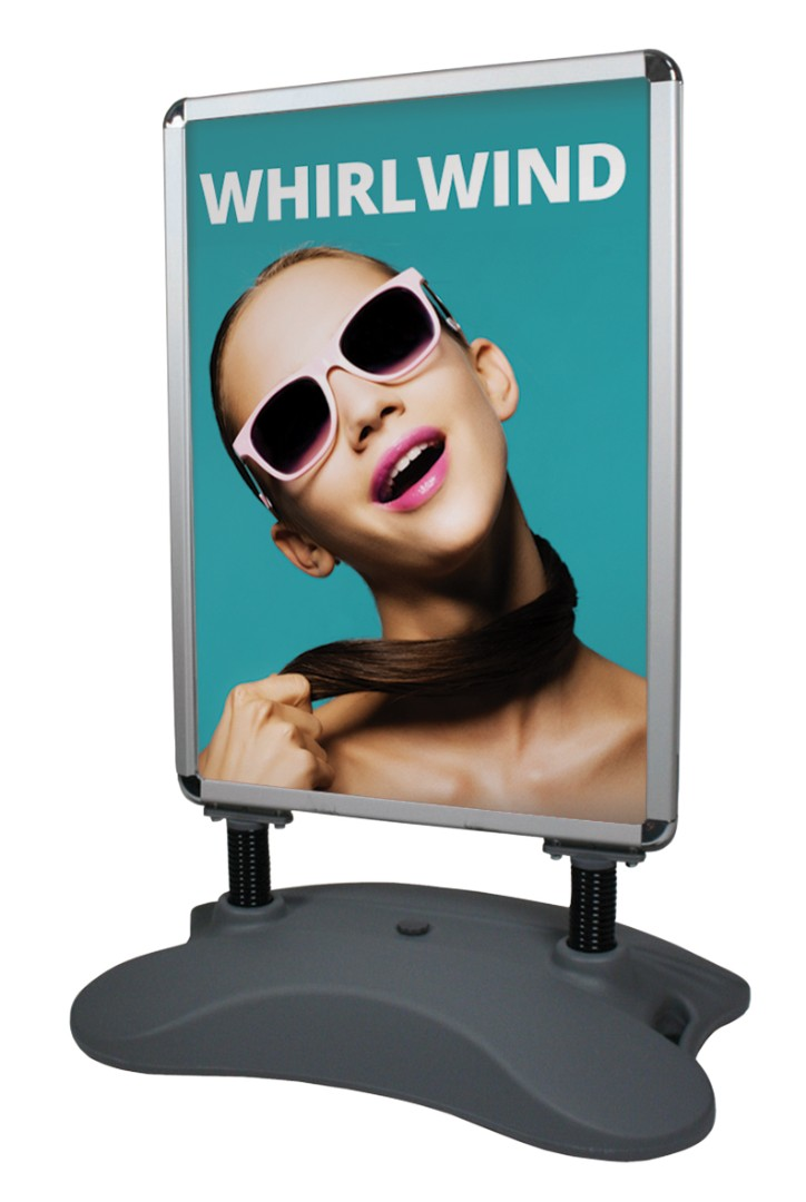 Whirlwind Water Filled Pavement Sign A1 Poster Size