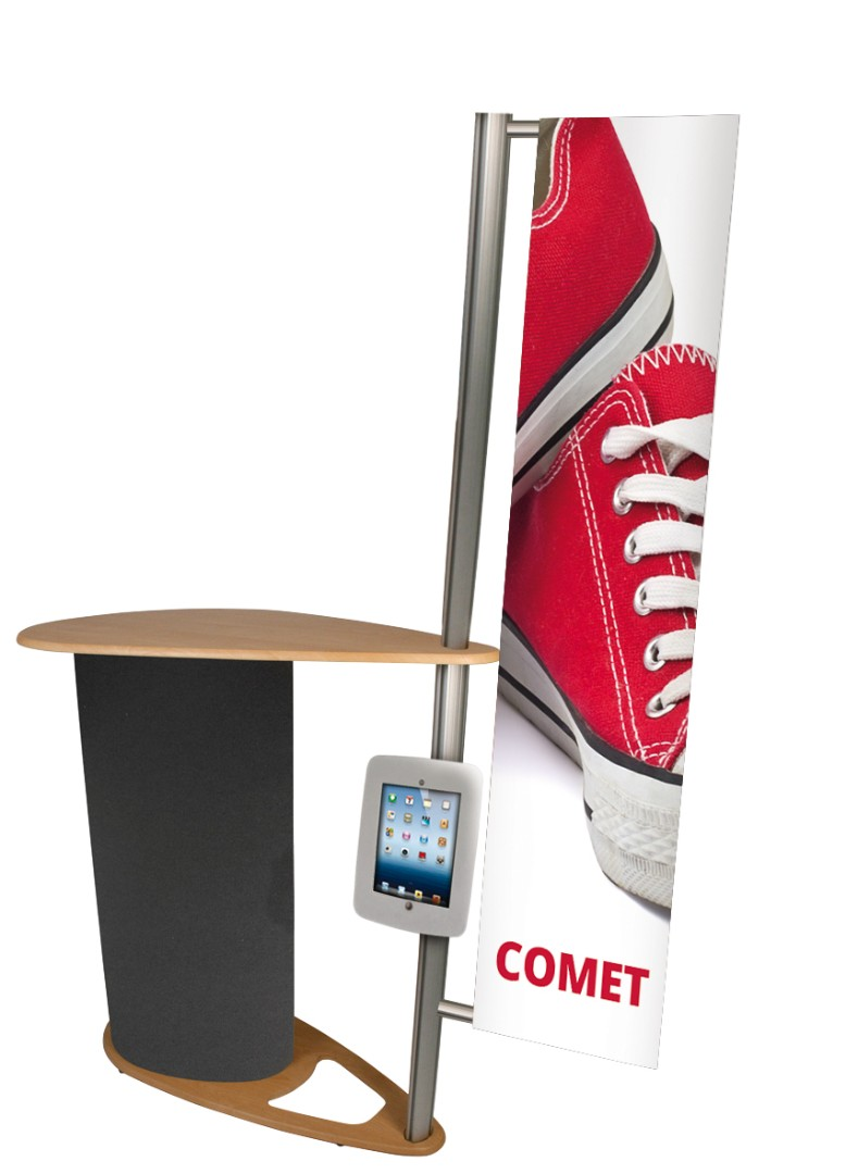 Physique Comet Counter with Pole Banner Graphic From £275