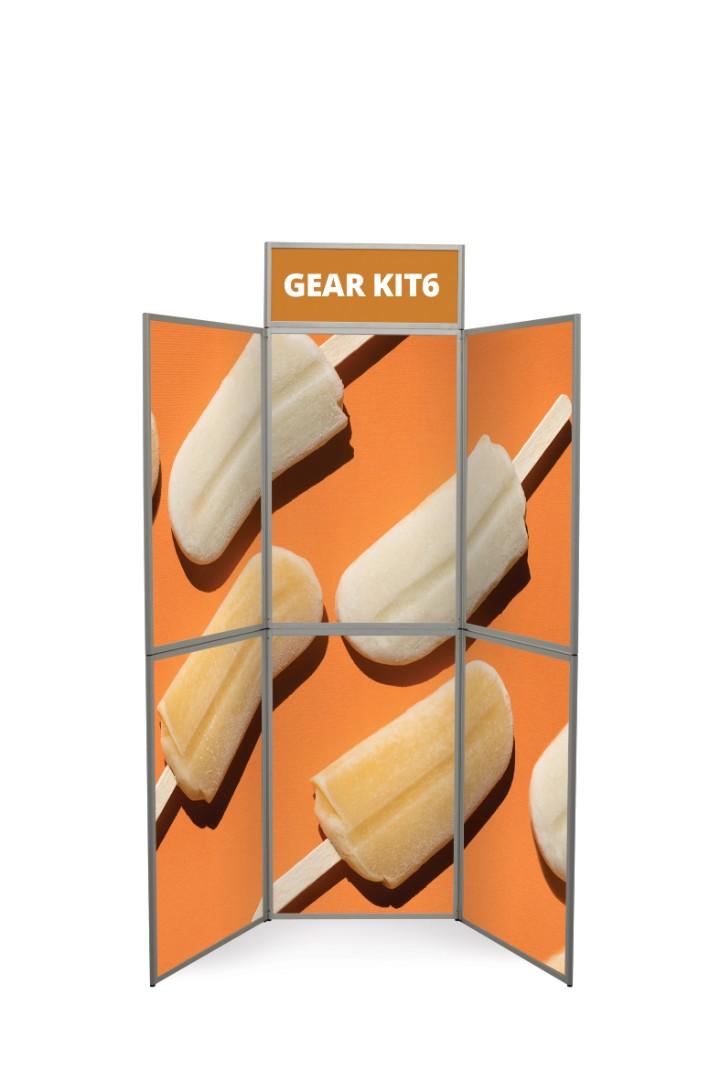 Gear Edge 6 Panel Folding Display Boards