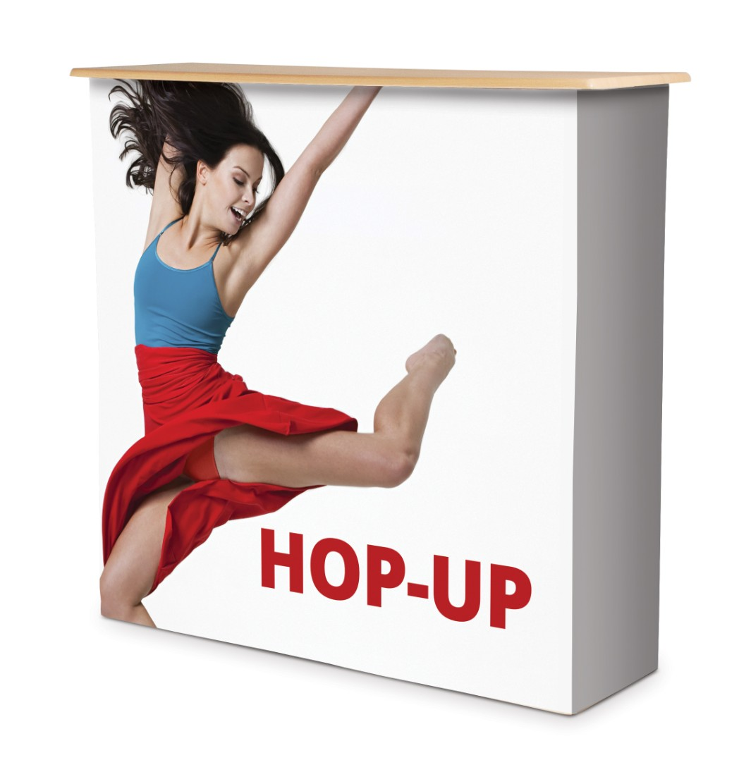 Hop Up Fabric Display Counter