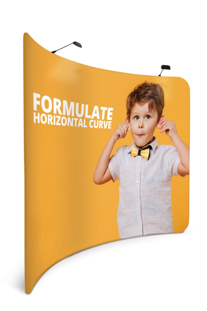 Formulate Curved Fabric Display Stand 2.4m (2400mm)