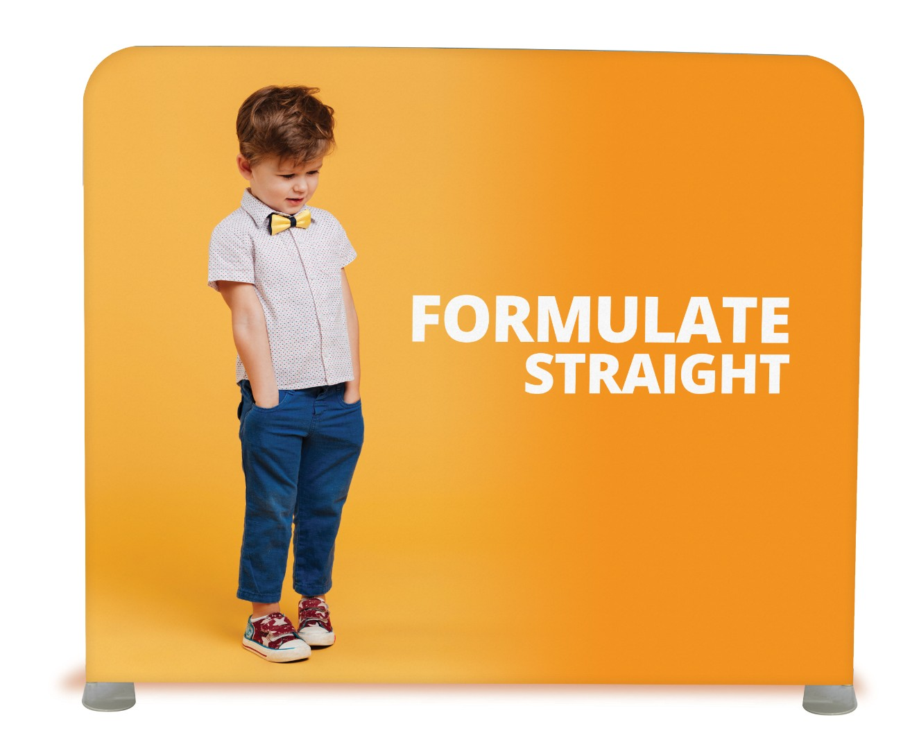 Formulate Straight Fabric Display Stand Straight 2.4m (2400mm)