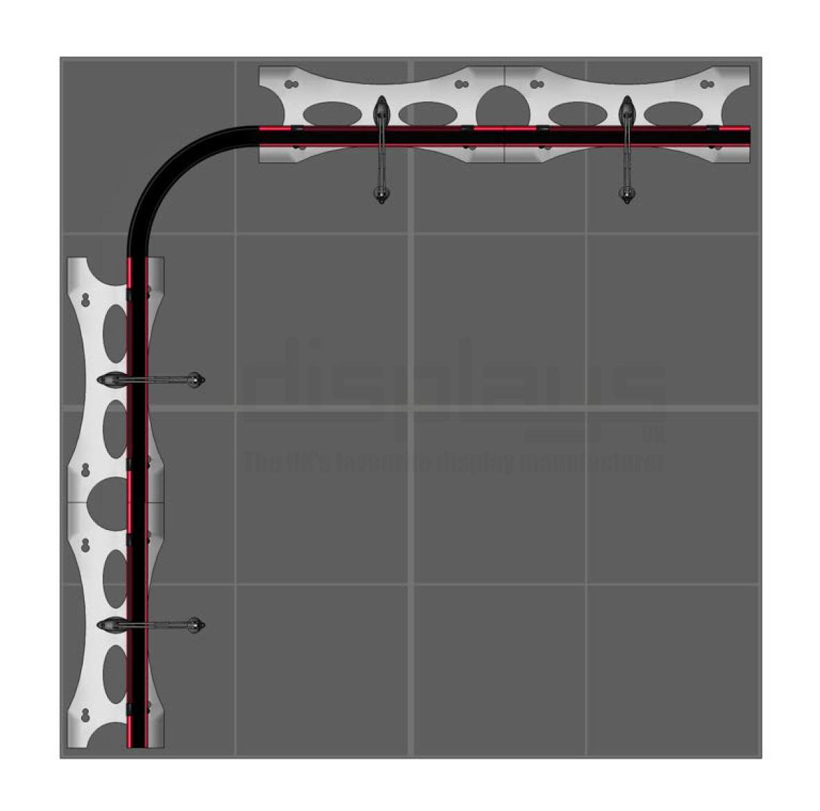 Twist 2m x 2m Flexible Banner Stand Kit 2