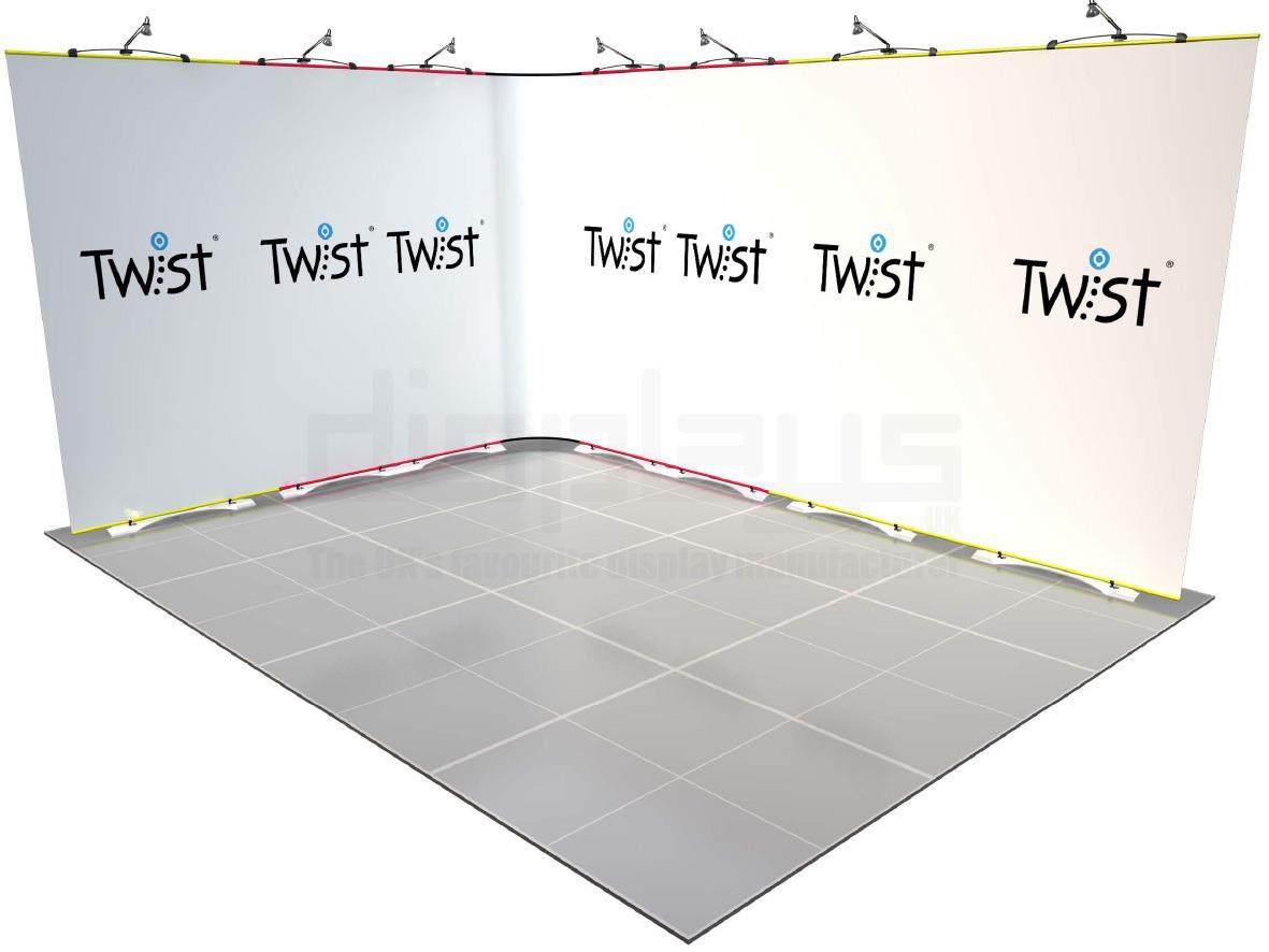 Twist Banner 06 4mx3m Exhibition Stand
