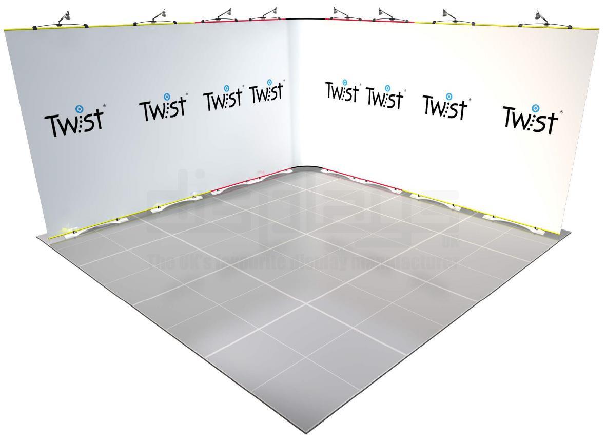 Twist Banner 07 4mx4m Exhibition Stand