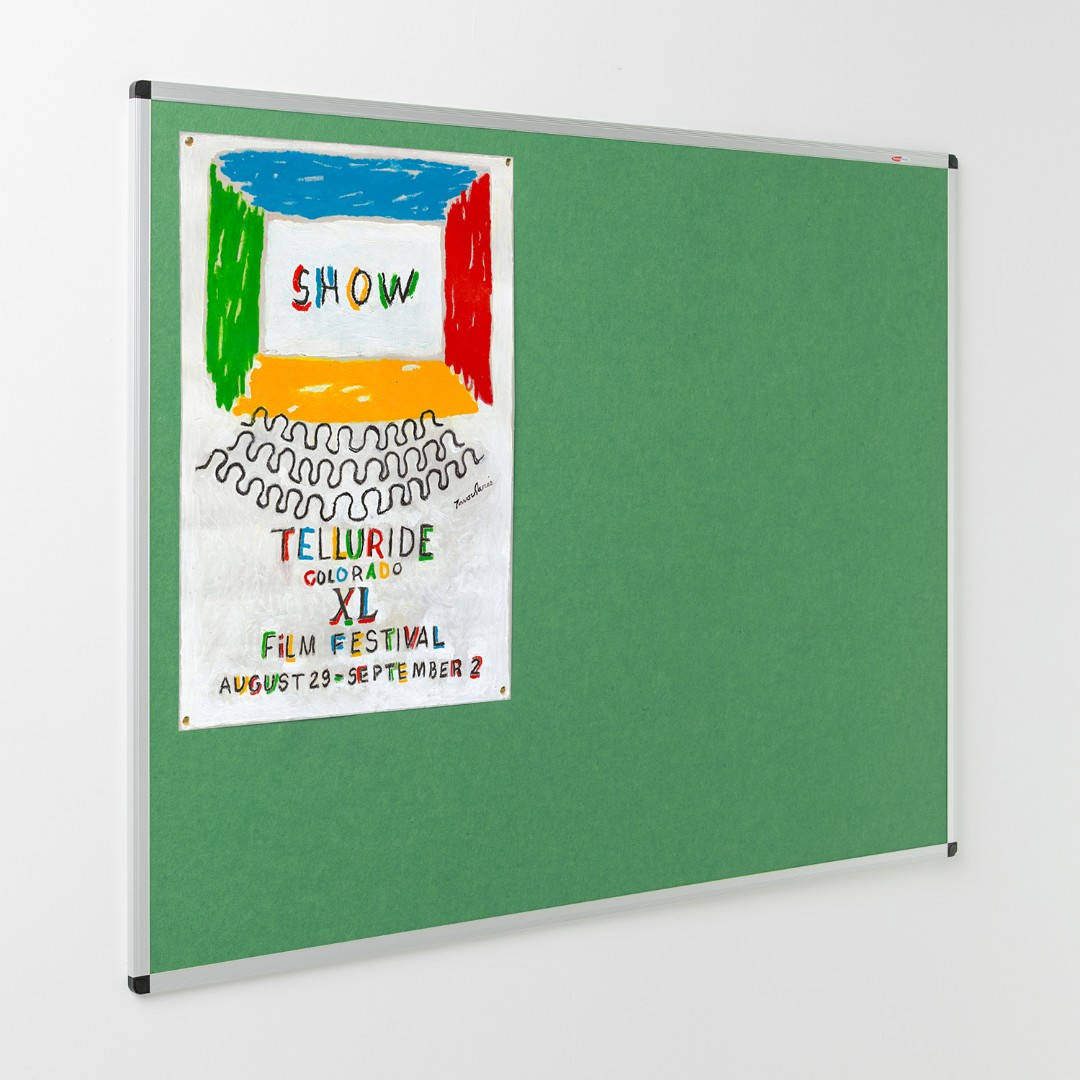 Eco-Colour® Aluminium Framed Resist-a-Flame Noticeboards