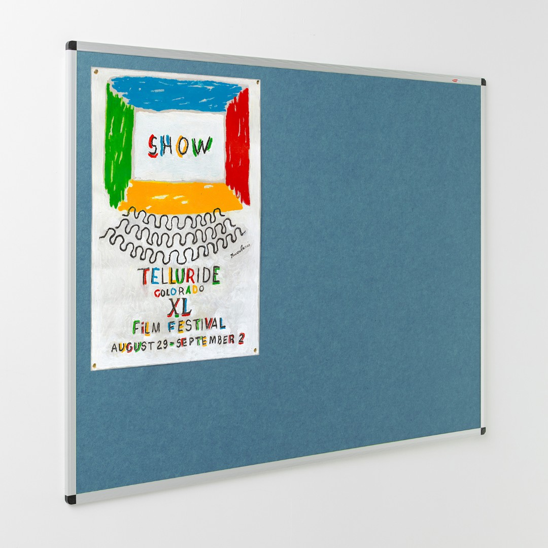Eco-Colour® Aluminium Framed Resist-a-Flame Noticeboards