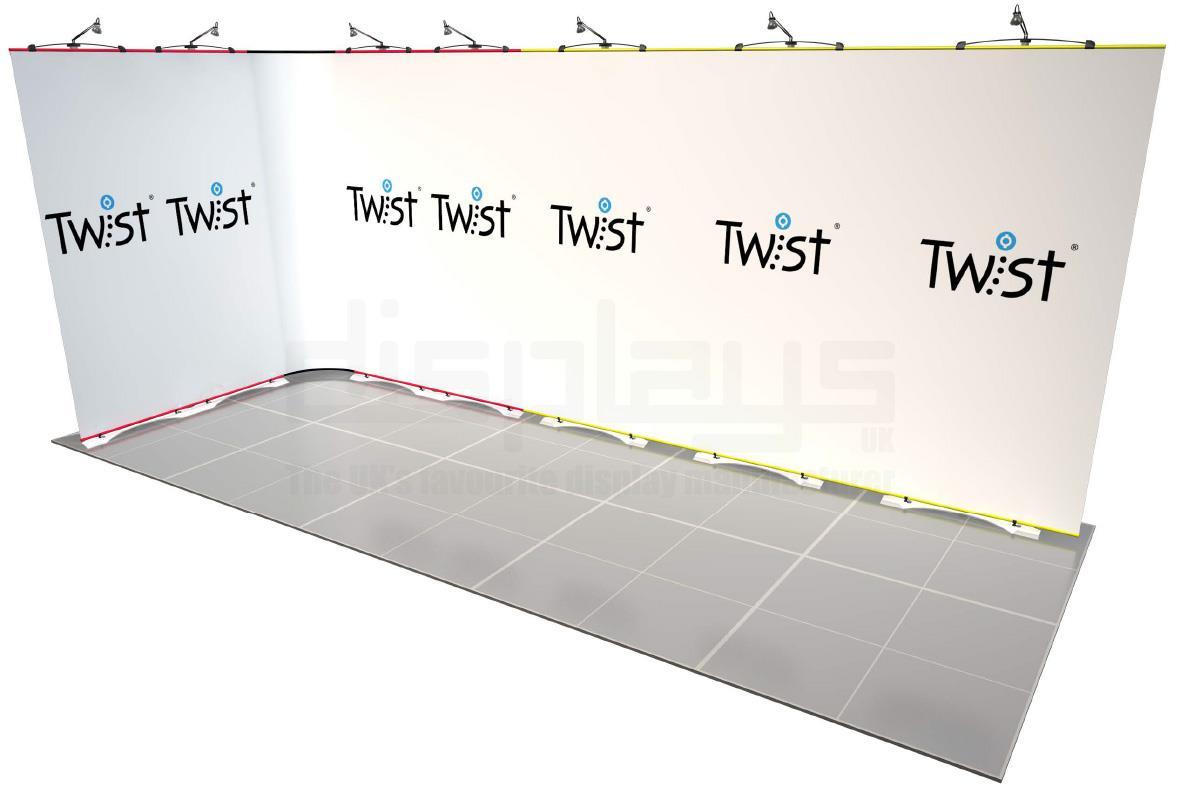 Twist Banner 08 5mx2m Exhibition Stand