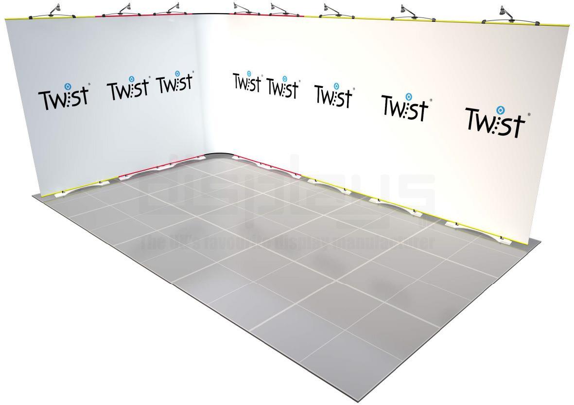Twist Banner 09 5mx3m Exhibition Stand