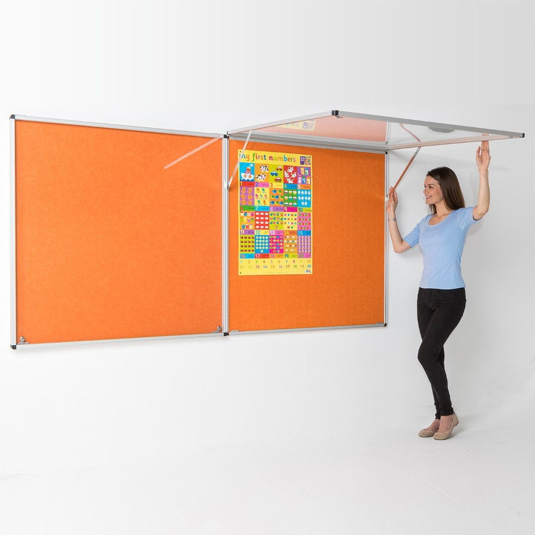 Eco-Colour® Corridor Resist-a-Flame Tamperproof Noticeboards