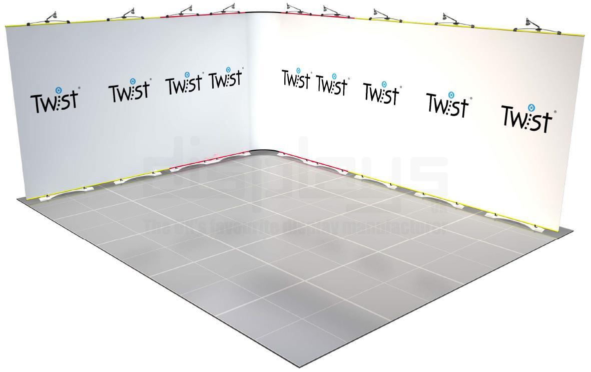 Twist Banner 10 5mx4m Exhibition Stand