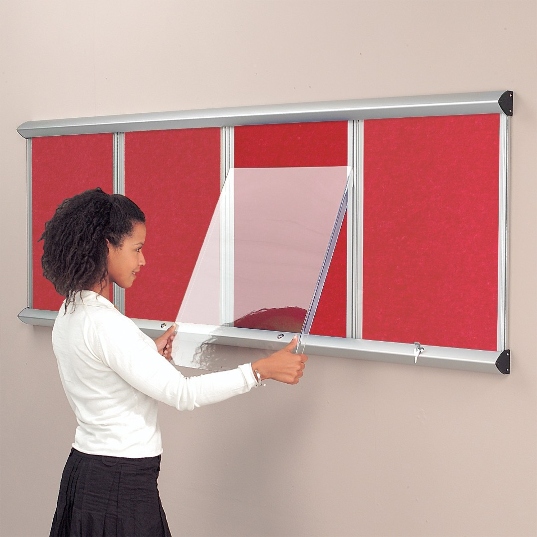 Shield Showcase Eco-Colour® Resist-a-Flame Noticeboard with Lift Off Covers
