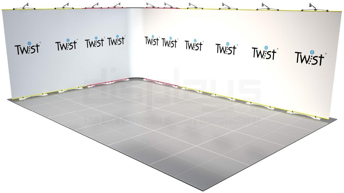 Twist Banner 12 6mx4m Exhibition Stand