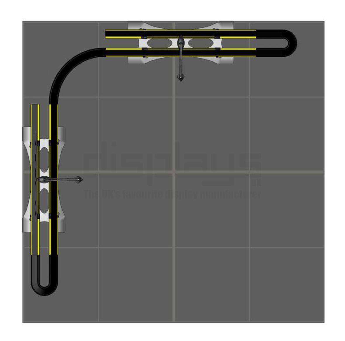 Twist Banner 2m x 2m Exhibition Stand - Kit 26