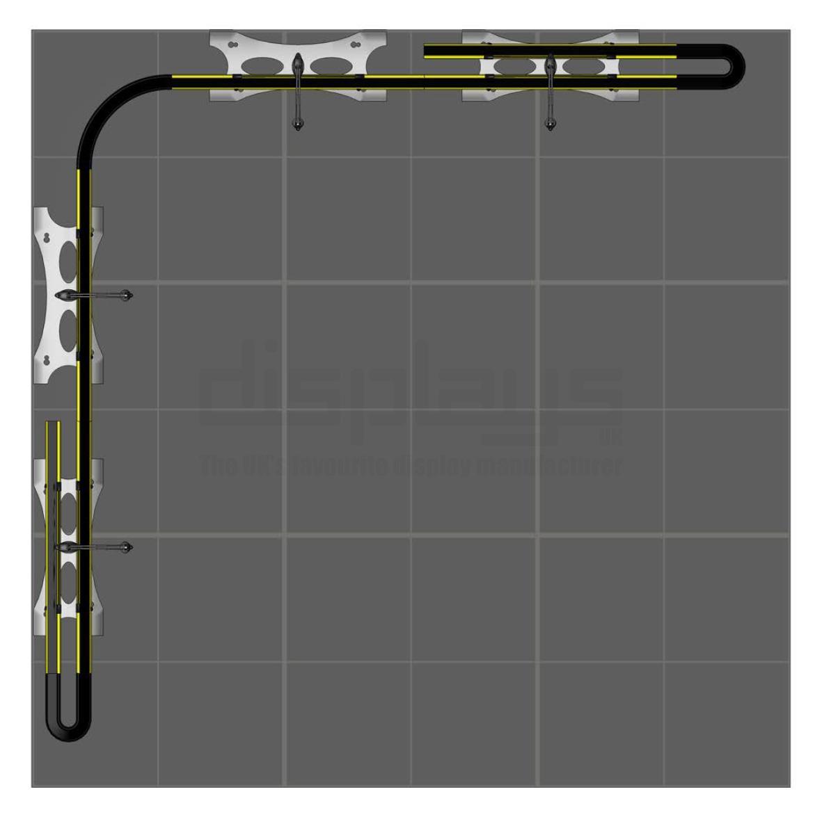 Twist Banner 3m x 3m Exhibition Stand - Kit 28
