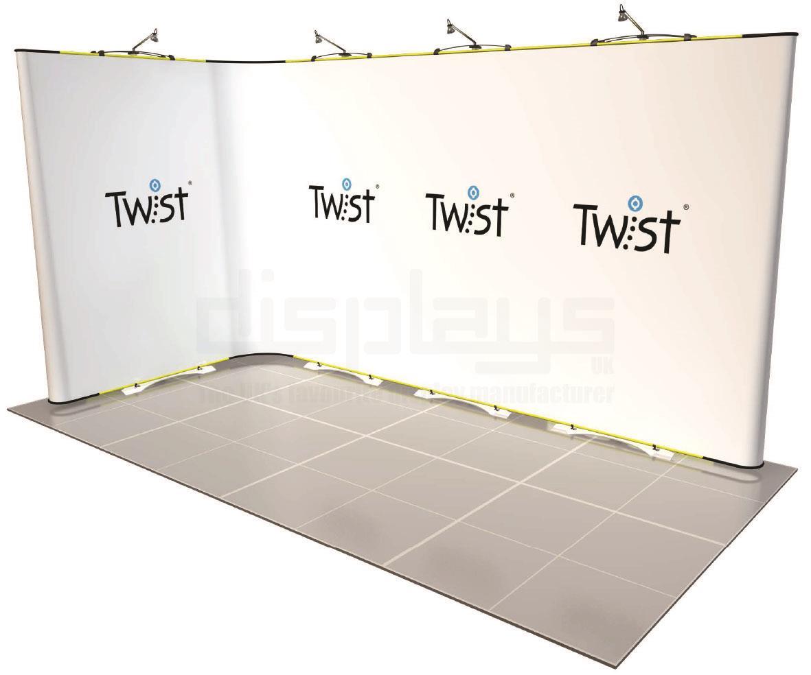 Twist Banner 4m x 2m Exhibition Stand - Kit 29