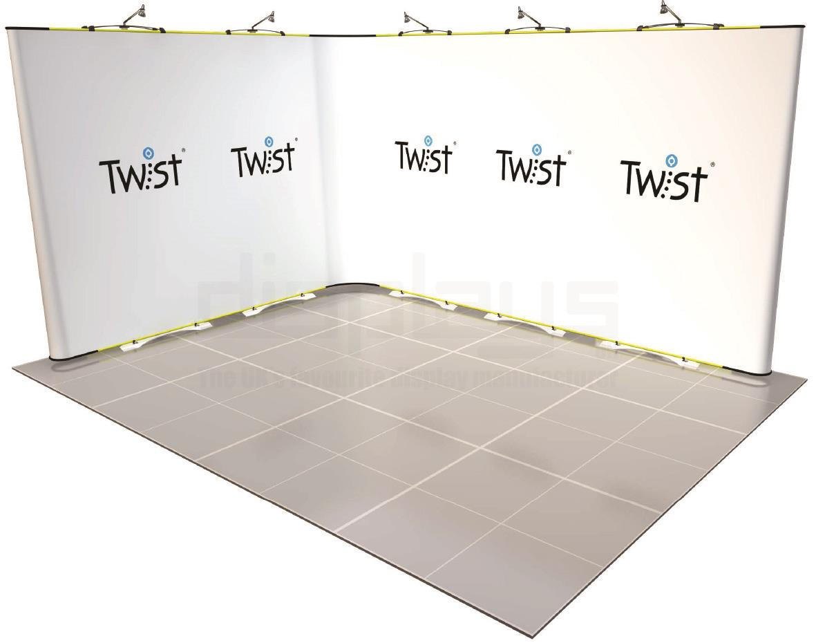 Twist 4m x 3m Exhibition Stand - Kit 30