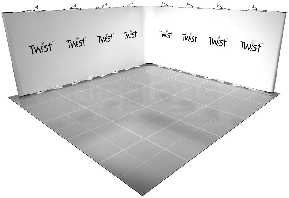 Twist 5m x 5m Exhibition Stand - Kit 35