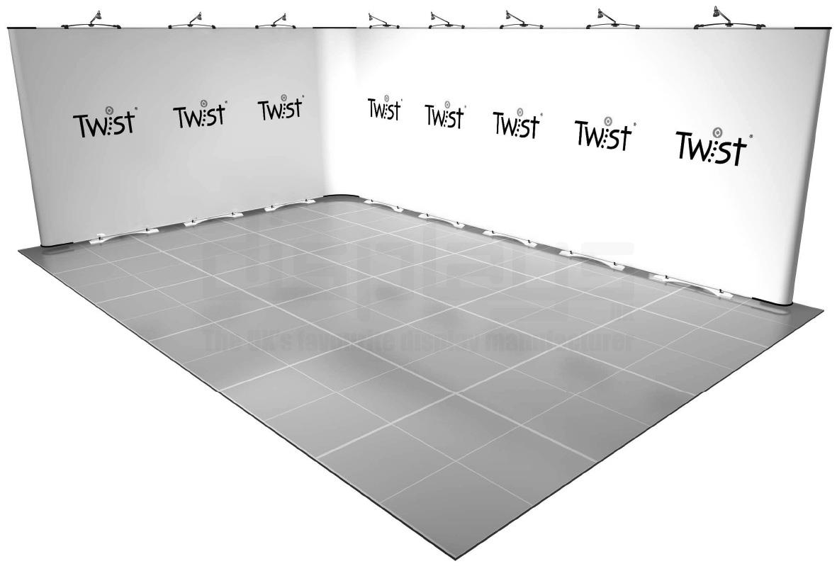 Twist 6m x 4m Exhibition Stand - Kit 36