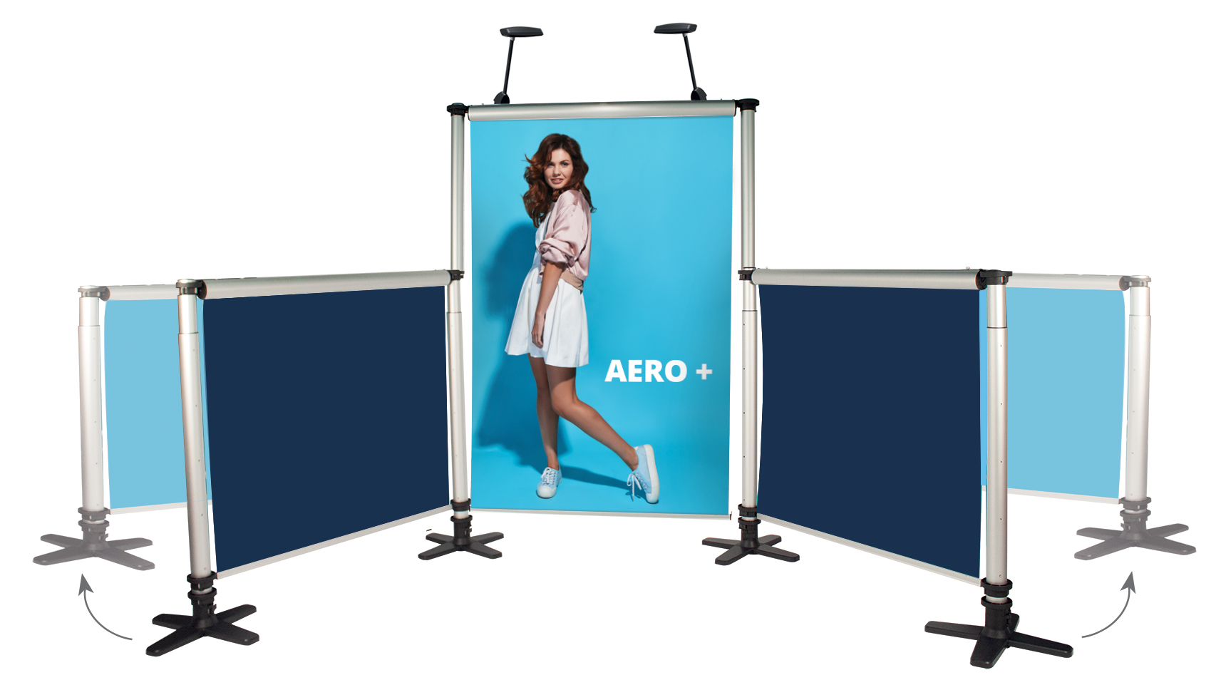 Aero Linked Roll Up Banner Stand - Kit