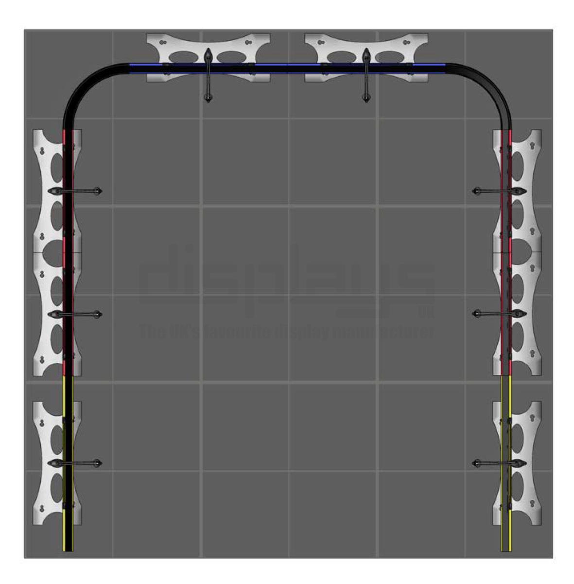 Twist Banner 3m x 3m Exhibition Stand - U Shape - Kit 38