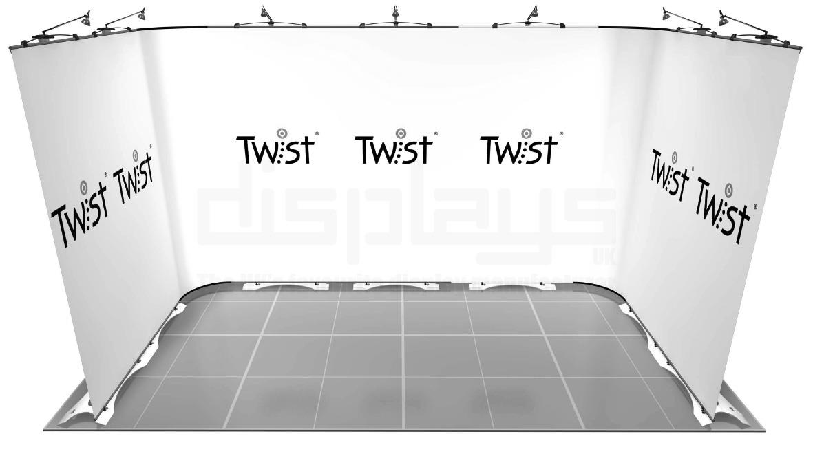 Twist 4m x 2m Exhibition Stand - U Shape - Kit 39