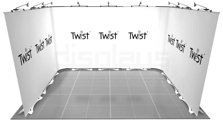 Twist 4m x 3m Exhibition Stand - U Shape - Kit 40