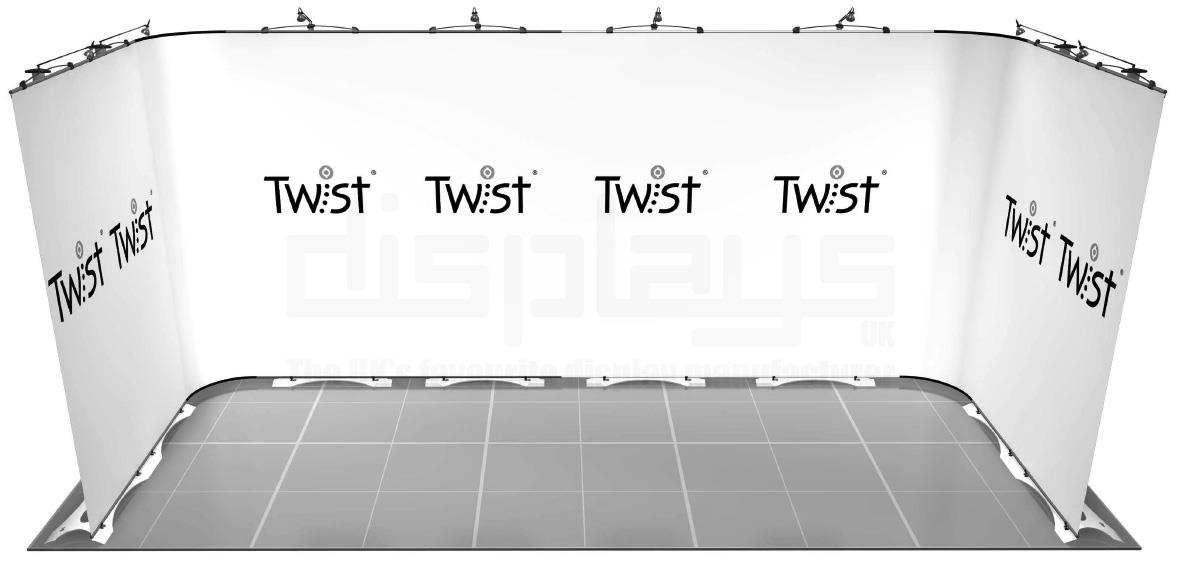 Twist 5m x 2m Exhibition Stand - U Shape - Kit 42