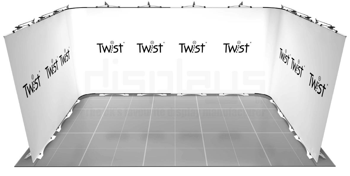 Twist 5m x 3m Exhibition Stand - U Shape - Kit 43
