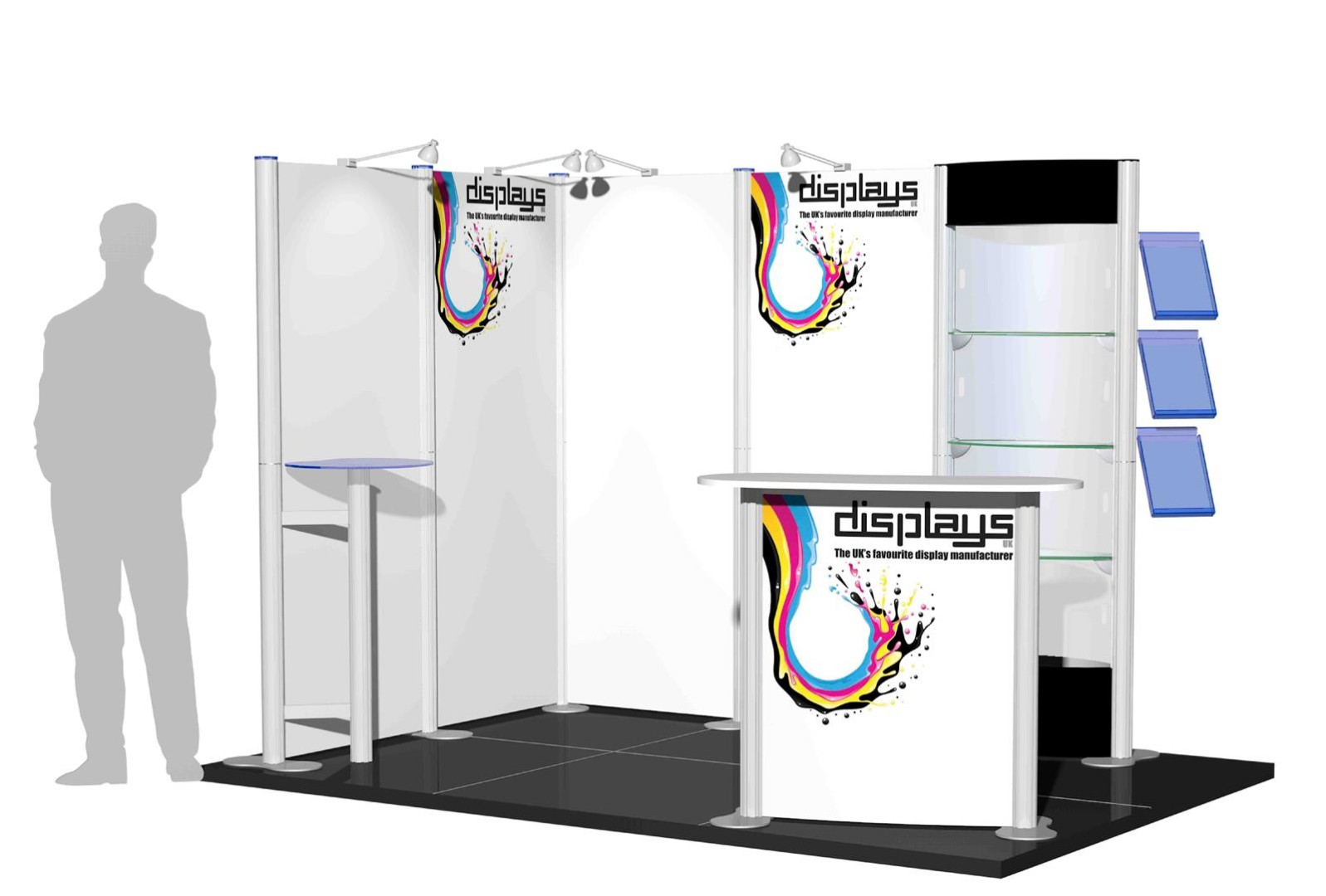 Centro 3m x 2m Modular Exhibition Stand - C3x2-2a