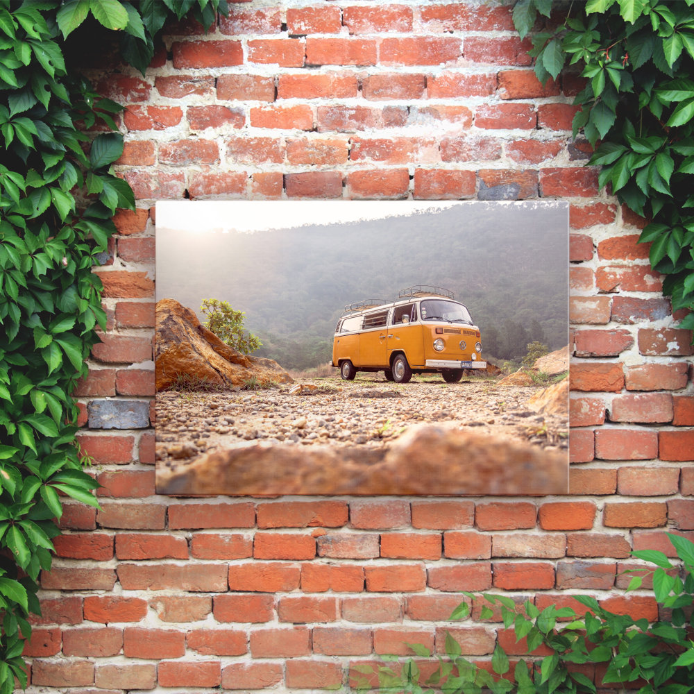 Outdoor Printed Garden Art Wall Panel - Campervan