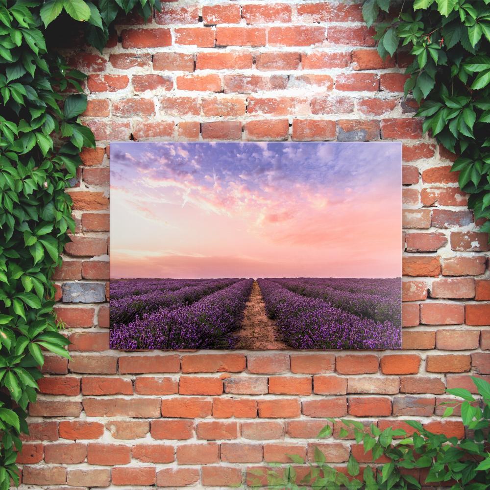 Outdoor Printed Garden Art Wall Panel - Lavender Fields