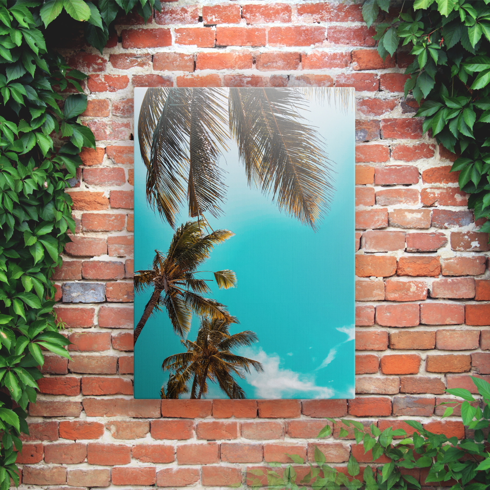 Outdoor Printed Garden Art Wall Panel - Palm Trees