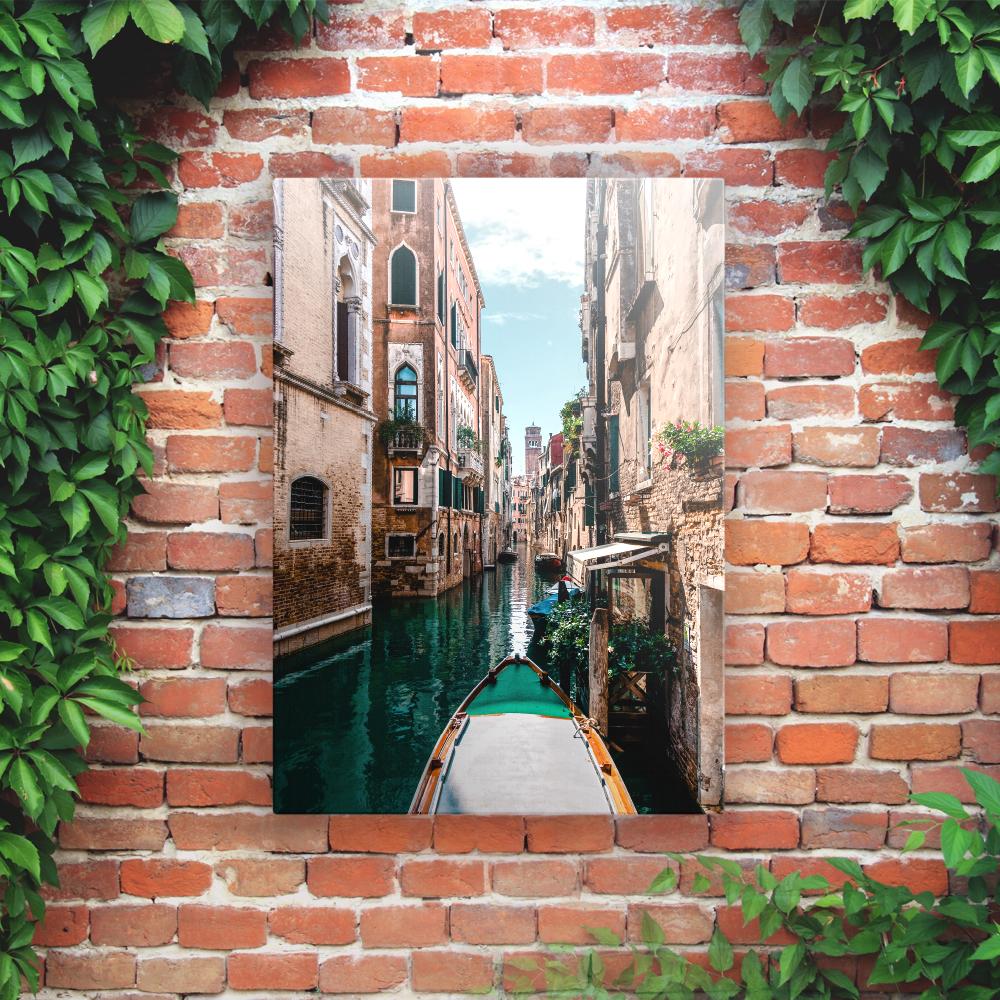 Outdoor Printed Garden Art Wall Panel - Venice Canal