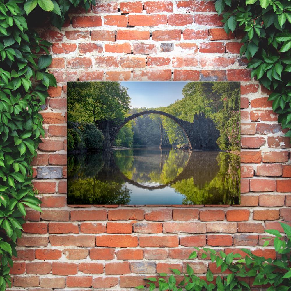 Printed Outdoor Garden Wall Art Panels - Bridge on the River